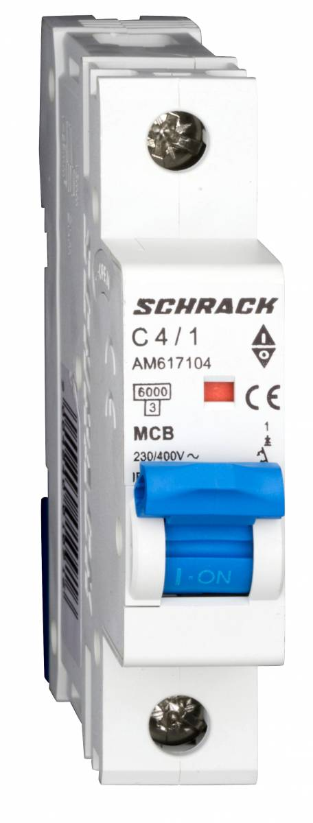 Miniature Circuit Breaker (MCB) AMPARO 6kA, C 4A, 1-pole