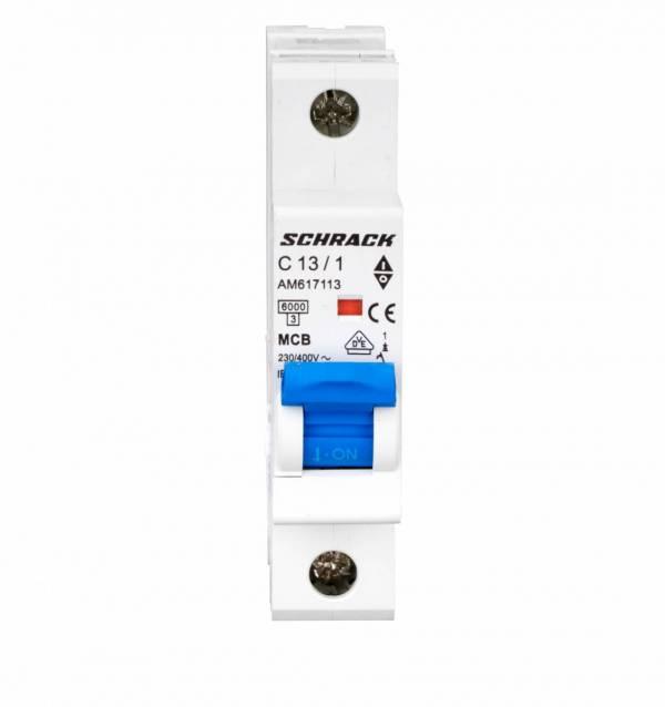 Miniature Circuit Breaker (MCB) AMPARO 6kA, C 13A, 1-pole