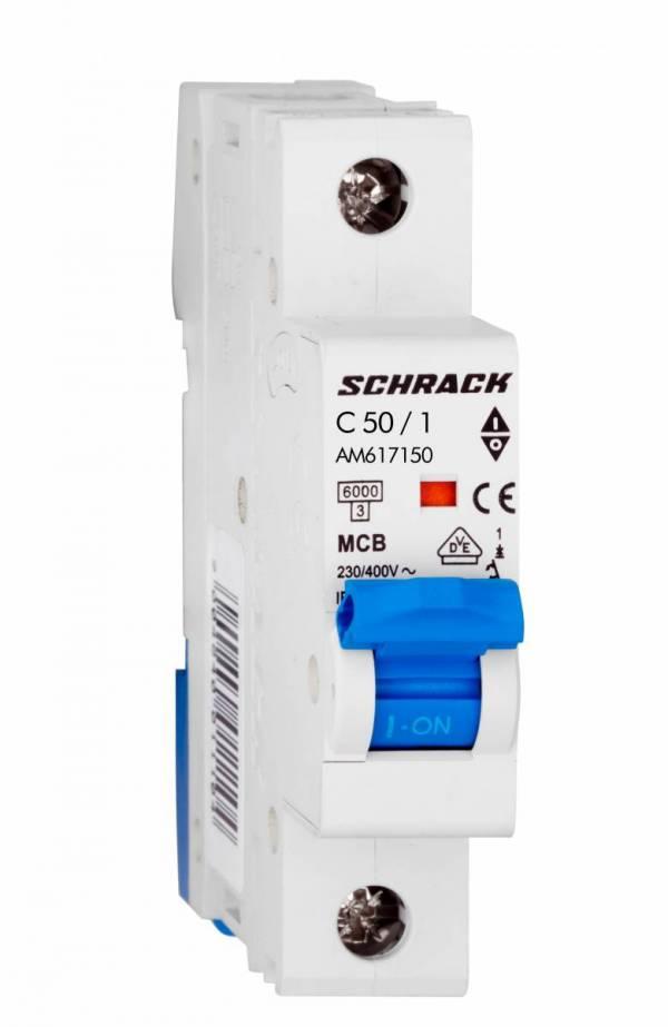 Miniature Circuit Breaker (MCB) AMPARO 6kA, C 50A, 1-pole