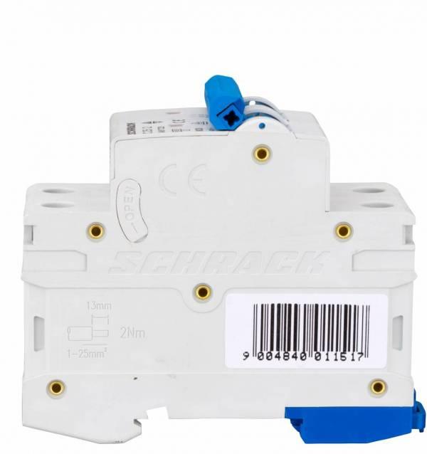 Miniature Circuit Breaker (MCB) AMPARO 6kA, C 25A, 2-pole