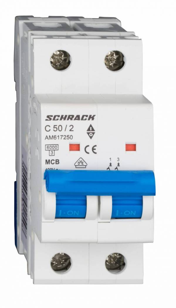 Miniature Circuit Breaker (MCB) AMPARO 6kA, C 50A, 2-pole