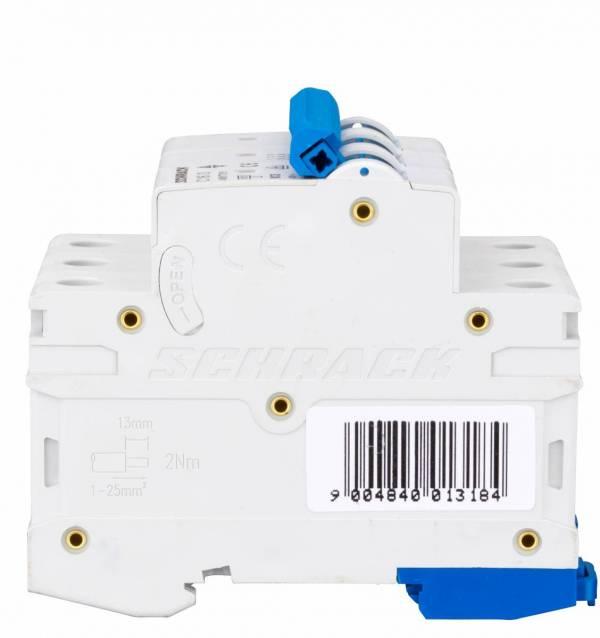 Miniature Circuit Breaker (MCB) AMPARO 6kA, C 16A, 3-pole