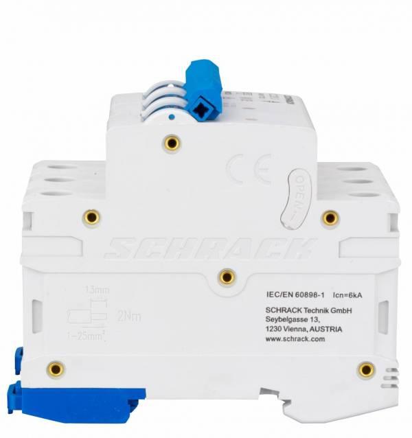 Miniature Circuit Breaker (MCB) AMPARO 6kA, C 20A, 3-pole