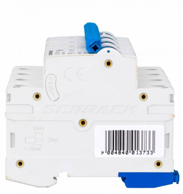 Miniature Circuit Breaker (MCB) AMPARO 6kA, C 25A, 3+N