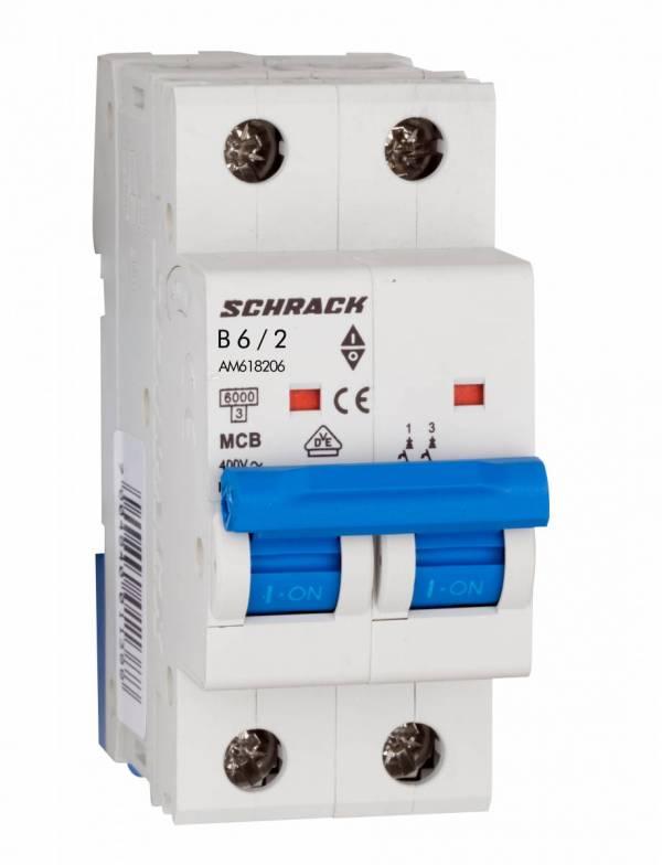 Miniature Circuit Breaker (MCB) AMPARO 6kA, B 6A, 2-pole