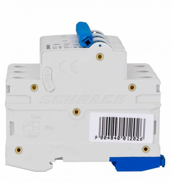 Miniature Circuit Breaker (MCB) AMPARO 6kA, B 20A, 3-pole