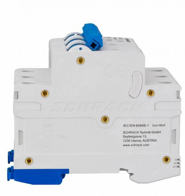 Miniature Circuit Breaker (MCB) AMPARO 6kA, B 40A, 3-pole