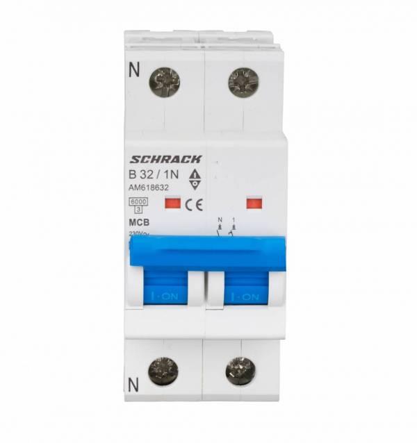 Miniature Circuit Breaker (MCB) AMPARO 6kA, B 32A, 1+N