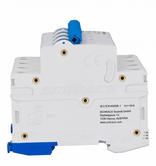 Miniature Circuit Breaker (MCB) AMPARO 6kA, B 13A, 3+N