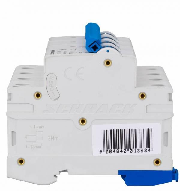 Miniature Circuit Breaker (MCB) AMPARO 6kA, B 16A, 3+N