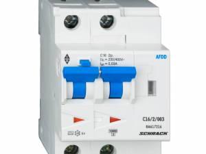 AFDD, series Lisa, C 10 A, 2-pole, 30 mA, A/delayed, 10 kA