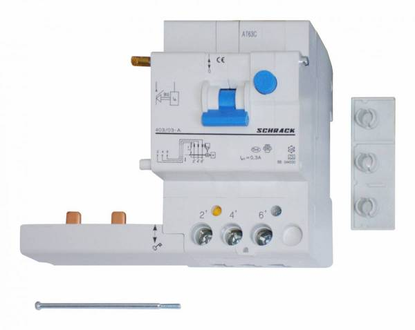 Residual Current Add-on Block 40A, 3-pole, 300mA, type A