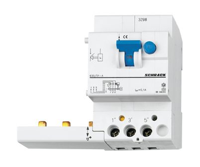 Residual Current Add-on Block 63A, 3-pole, 100mA, type A