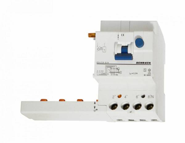Residual Current Add-on Block 63A/4/0.3-S/A