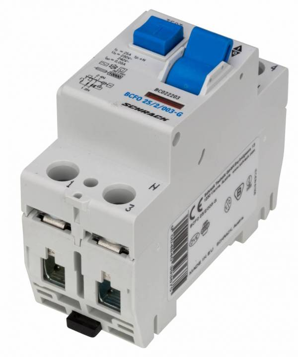 Residual current circuit breaker 25A, 2-pole,30mA, type AC,G