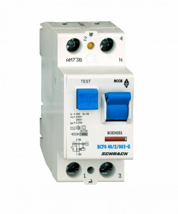 Residual current circuit breaker 40A, 2-pole,30mA, type AC,G