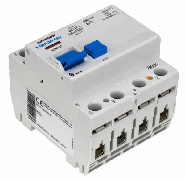 Residual current circuit breaker, 100A, 4-p, 30mA, type A