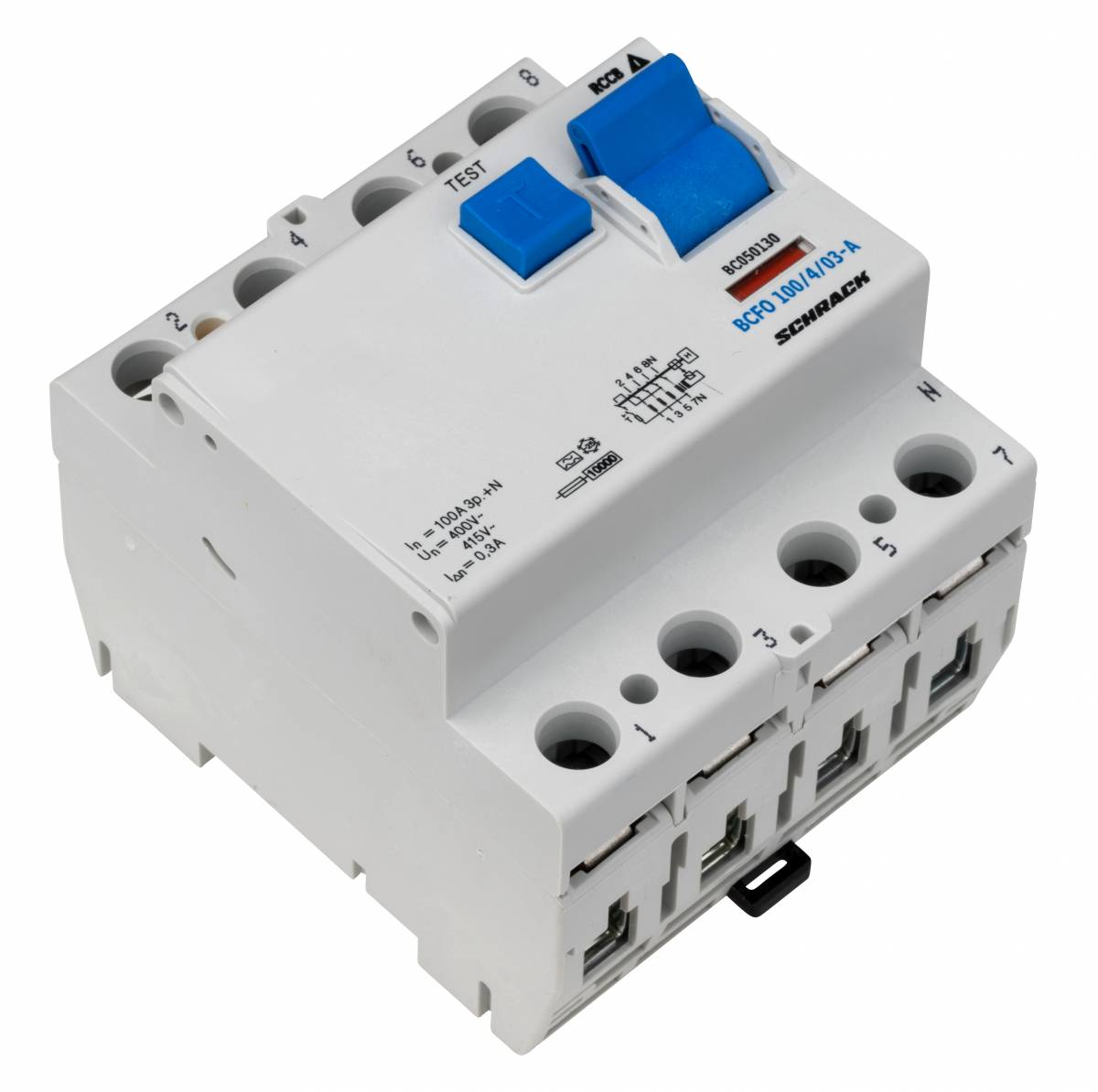 Residual current circuit breaker, 100A, 4-p, 300mA, type A