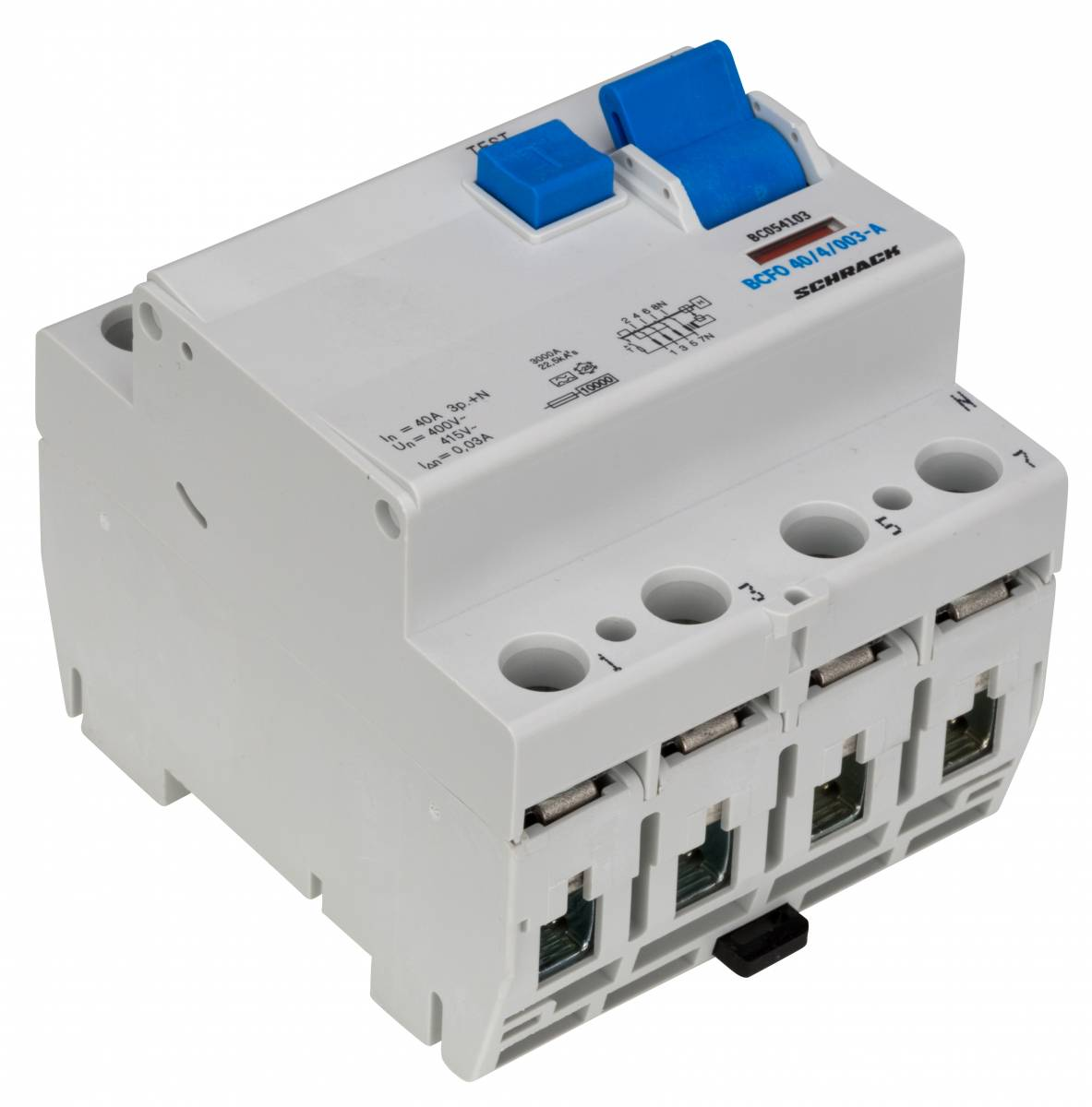 Residual current circuit breaker, 40A, 4-pole,30mA, type A