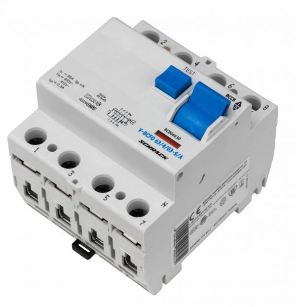 Residual current circuit breaker 63A, 4-p, 300mA,type S, A,V