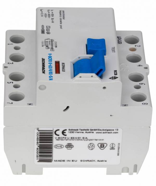 Residual current circuit breaker 63A,4-p,100mA,type A,S, FU