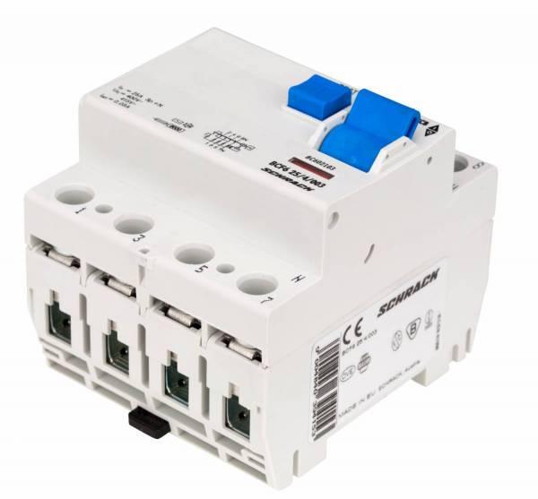 Residual current circuit breaker 25A, 4-p, 30mA,type AC, 6kA