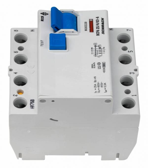 Residual current circuit breaker 25A, 4-p, 300mA, type A,6kA