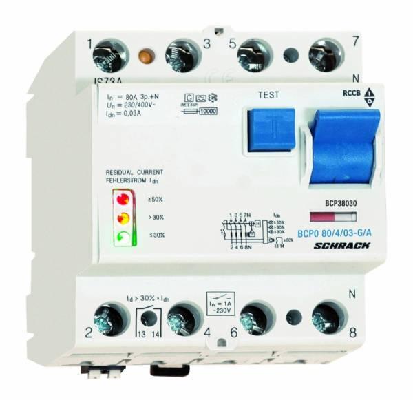 PRIORI-RCCB 40A, 4-pol, 300mA, type A,S,