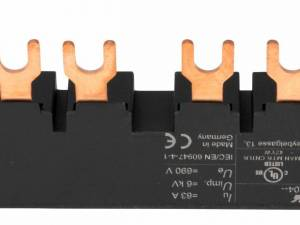 3 phase Busbar for 2xBE5, 45mm fork type UL certified