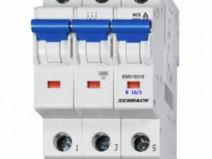 Miniature Circuit Breaker (MCB) B16/3, 10kA