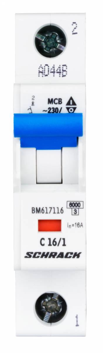 Miniature Circuit Breaker (MCB) C16/1, 6kA