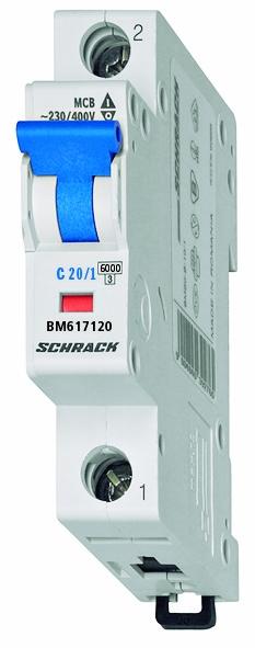 Miniature Circuit Breaker (MCB) C20/1, 6kA