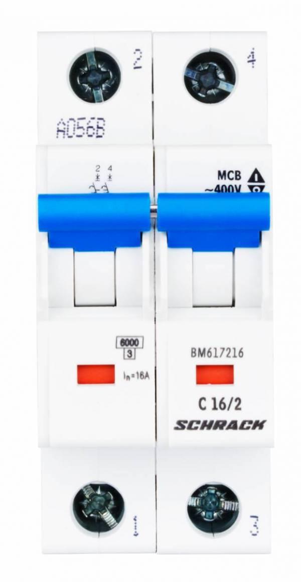 Miniature Circuit Breaker (MCB) C16/2, 6kA