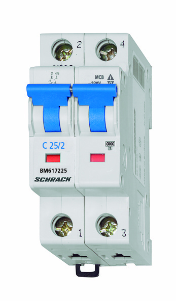 Miniature Circuit Breaker (MCB) C25/2, 6kA