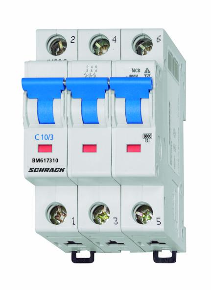 Miniature Circuit Breaker (MCB) C10/3, 6kA