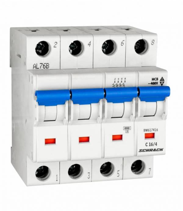 Miniature Circuit Breaker (MCB) C16/4, 6kA