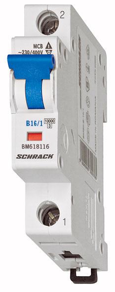 Miniature Circuit Breaker (MCB) B16/1, 6kA