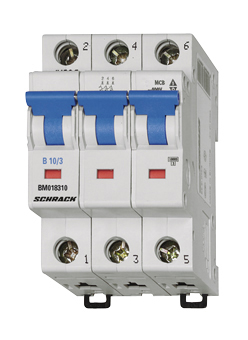 Miniature Circuit Breaker (MCB) B, 13A, 3-pole, 6kA