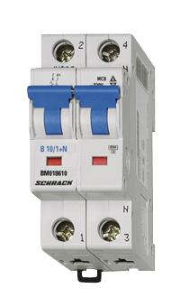 Miniature Circuit Breaker (MCB) B, 13A, 1-pole+N, 6kA