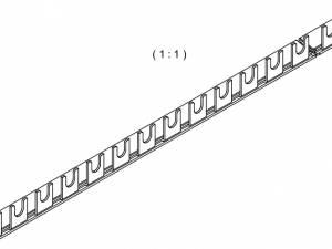 Busbar 1-pole, 16mm², 1m, fork