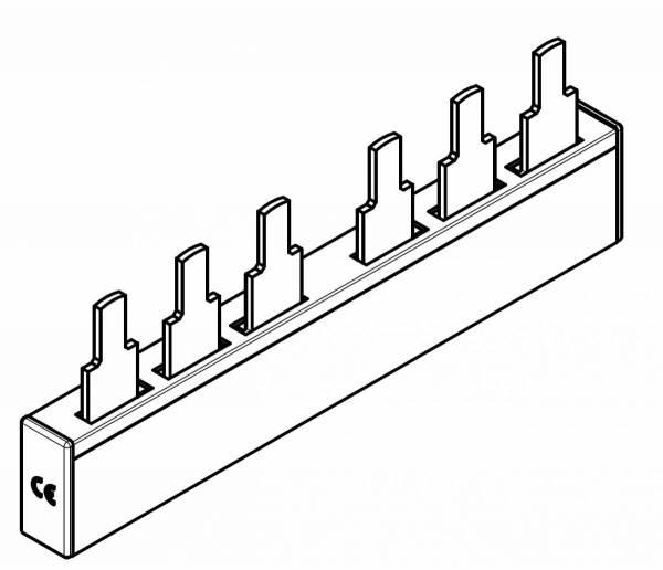 ARROW II-busbar 2xC00 3P fuse switch