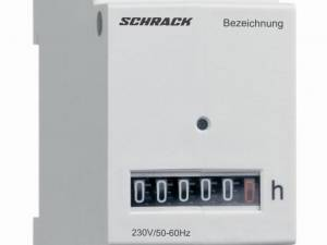 Operating hour meter 230 V-AC, with terminal cover