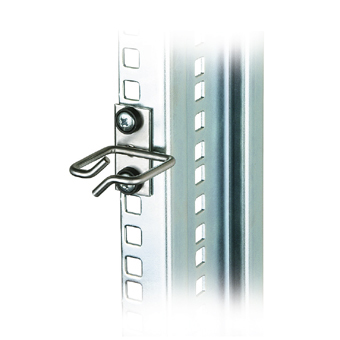 """Cable Organizer Metal 40x40mm for mounting to 19""""-rail"""