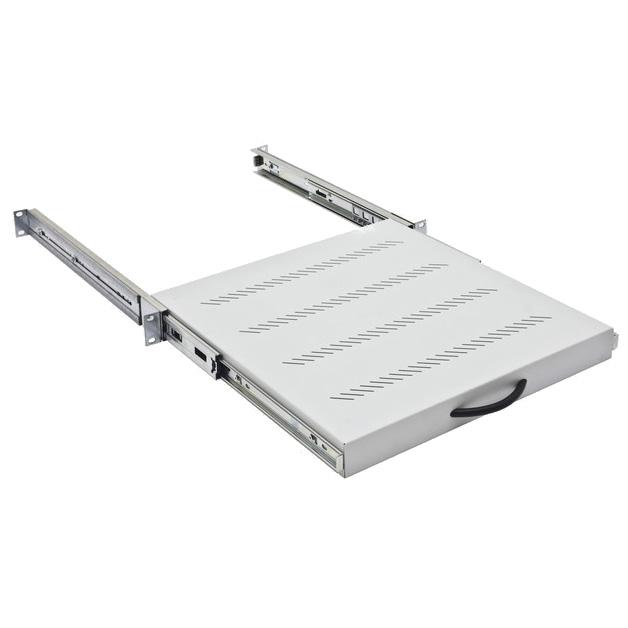 """19"""" Shelf Sliding full extension, 45kg Load,D=550,1U,RAL7035"""
