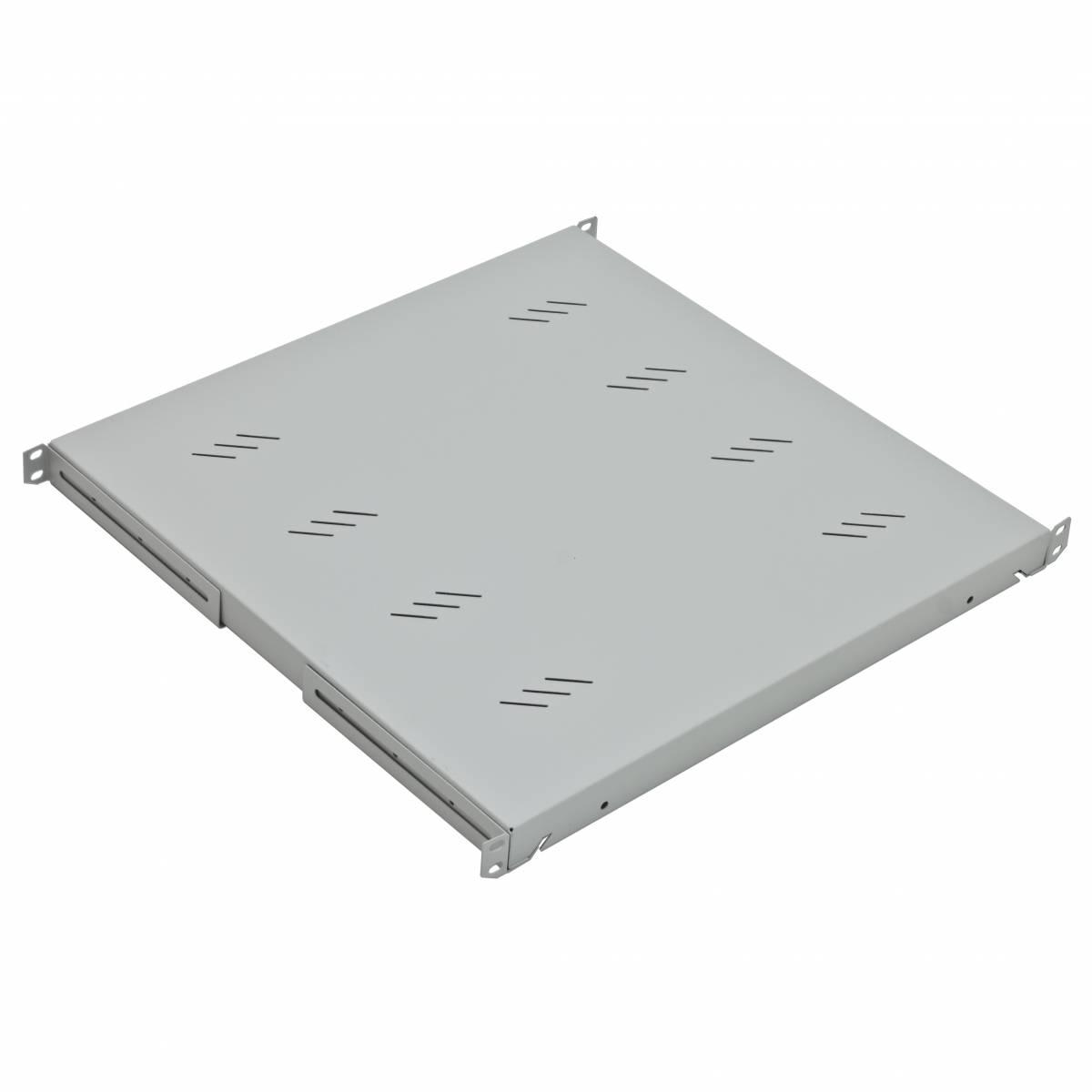 "19"" Shelf Fix, up to 80kg Load, D=550mm, 1U, RAL7035"