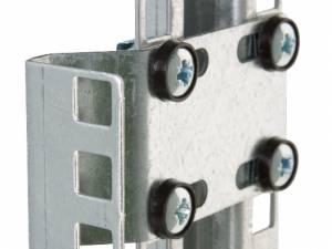 """19""""Vertical holder set 1U f. middle 19""""-rail of DS-enclosure"""