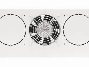 "Roof fan-unit with 1 fan and thermostat, 19"", 4U, RAL7035"