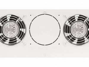 "Roof fan-unit with 2 fans and thermostat, 19"", 4U, RAL7035"