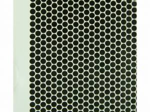 Sidepanel Metal perforated 80% for DS/DSZ 45U, D=600,RAL7035