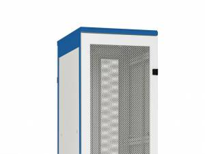 Door metal perforated 80% DS/DSZ/DSS(IP30) 27U,W=600,RAL7035